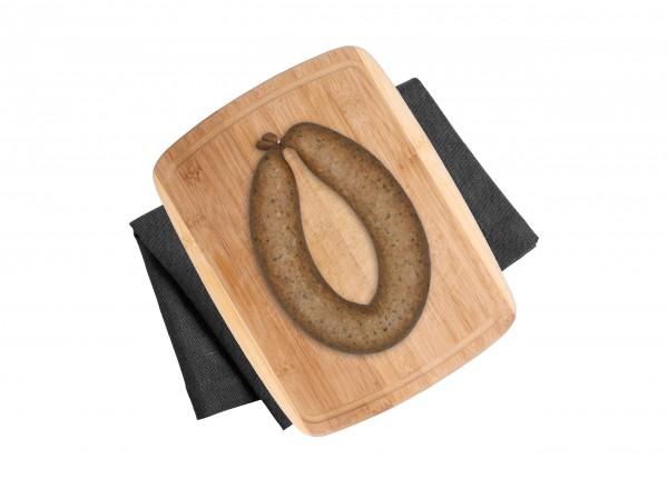 Frische Leberwurst mit Bärlauch & Majoran